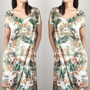 Soraya long split side maxi dress